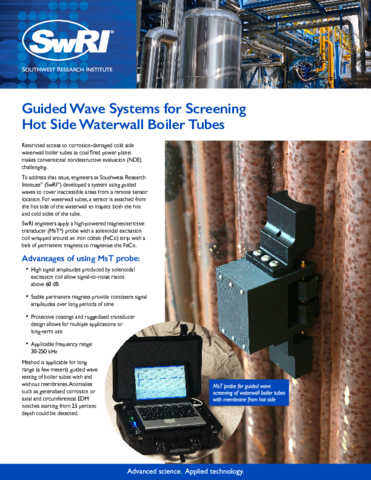 Go to Guided Wave Systems for Screening Hot Side Waterwall Boiler Tubes flyer