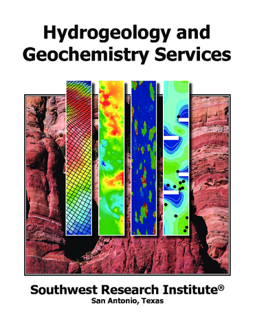 Go to Hydrogeology and Geochemistry Services brochure