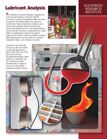 Go to Lubricant Analysis flyer