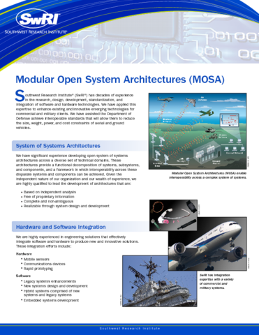 Go to modular open system architectures flyer