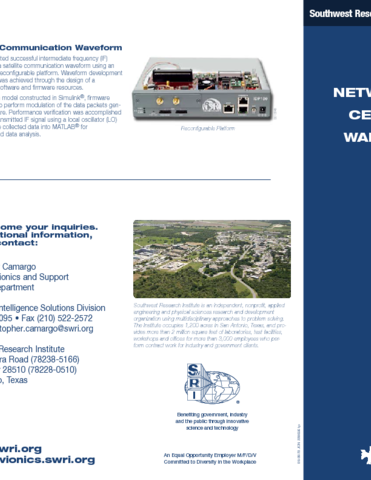 Go to network-centric warfare flyer