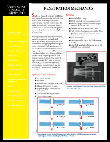 Go to Penetration Mechanics brochure