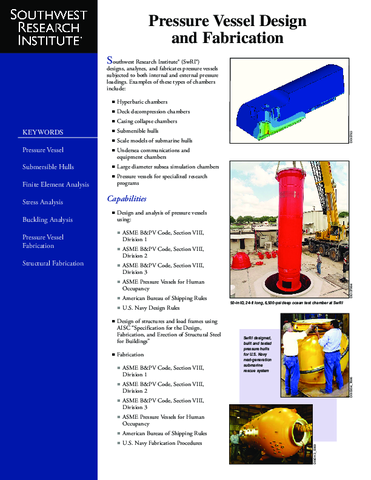 Go to Pressure Vessel Design and Fabrication brochure