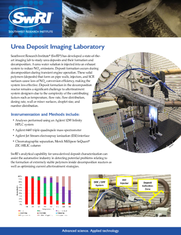 Go to Urea Deposit Imaging Laboratory flyer