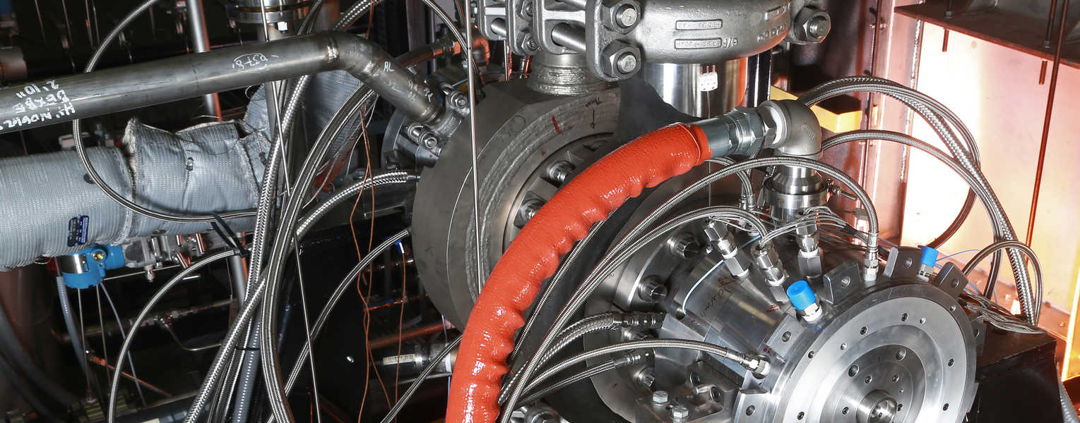 section of a sco2 turbine rig