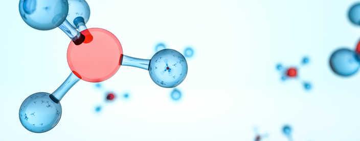 illustration of hydrogen molecules