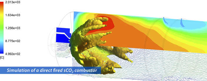 simulation oxy fuel combustor graphic