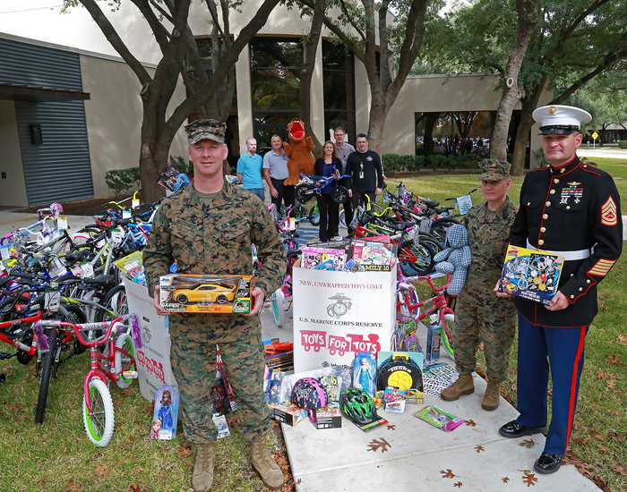 The annual Marine Toys for Tots drive at SwRI benefits local children in need