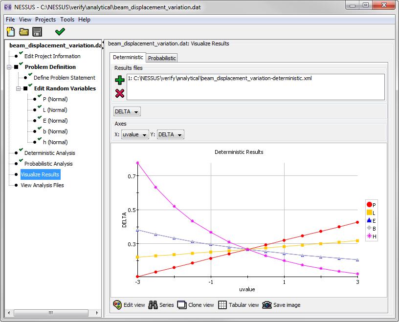image of screenshot of Parameter Variation