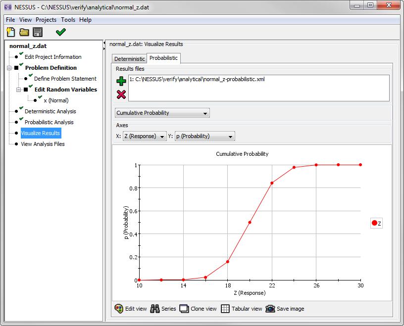 image of screenshot of Response CDF