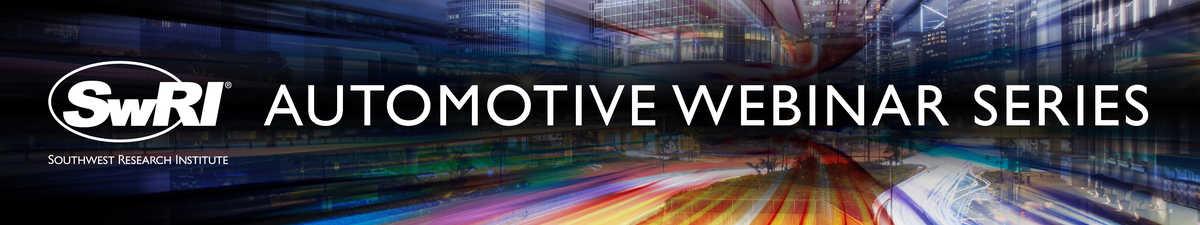 SwRI Automotive Webinar Series brandling