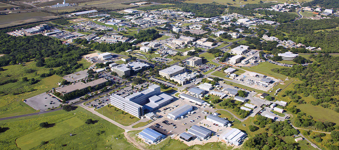 Aerial view of Southwest Research Institute