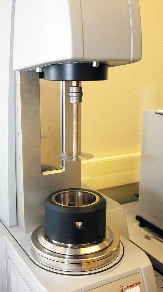 Anton Paar MCR 502 instrument in a lab
