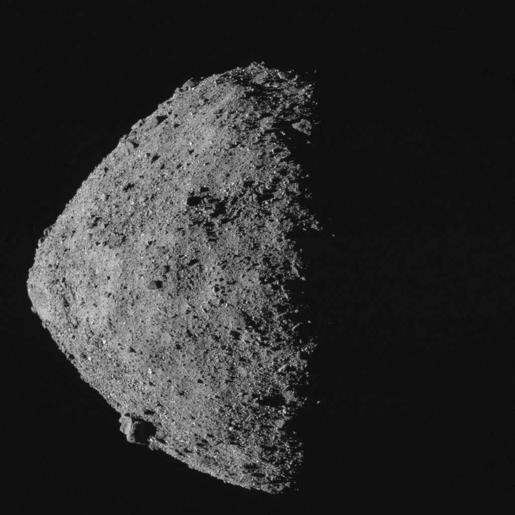 Image of Bennu taken from a camera on NASA's OSIRIS-REx spacecraft