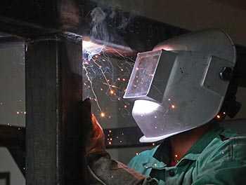 welding a frame