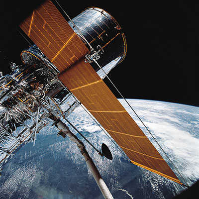Hubble telescope in orbit