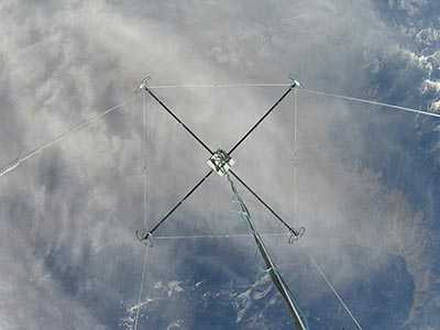An SwRI instrument package carried aloft by a stratospheric balloon