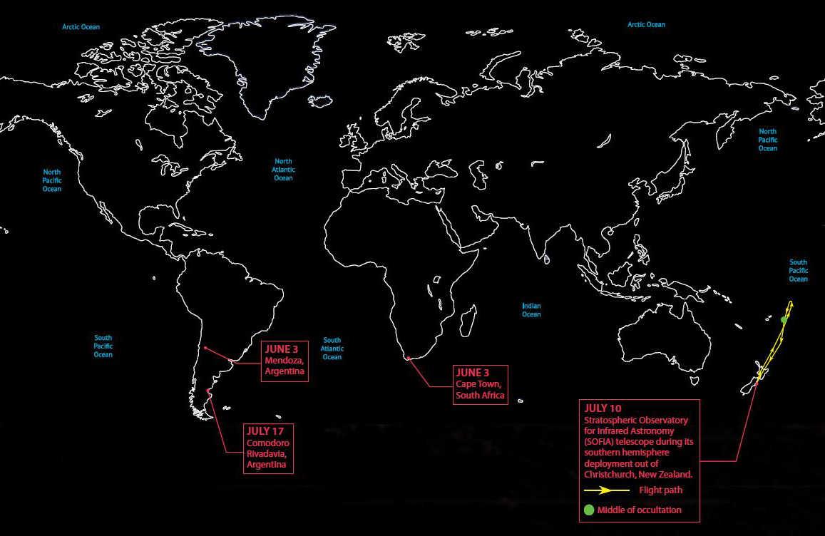 Map of observation sites