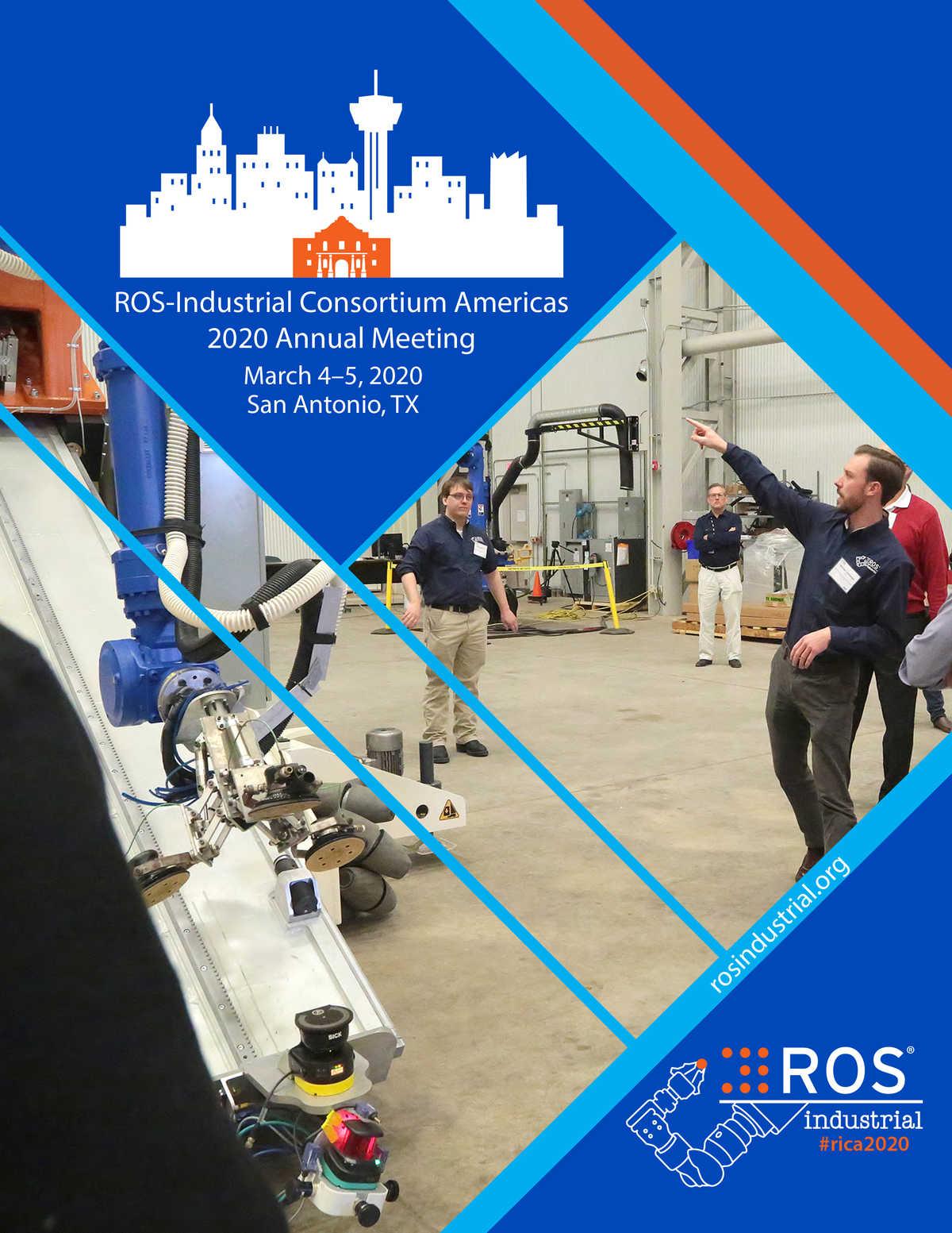 ROS-Industrial Consortium Americas 2020 Annual Meeting program cover