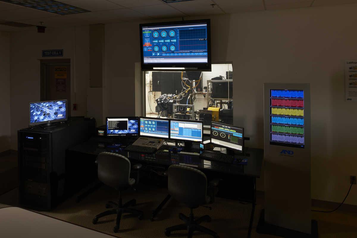 Ann Arbor test cell control room