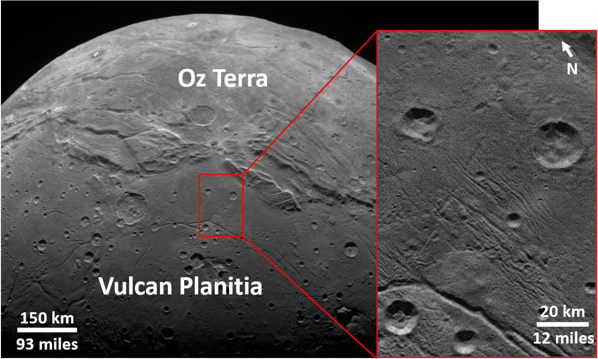 """Smooth, geologically stable """"Vulcan Planitia"""" on Charon"""