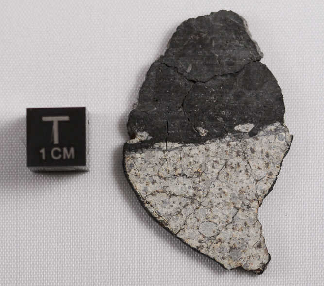 A meteorite fragment found after a 17–20 meter asteroid disrupted in the atmosphere near Chelyabinsk, Russia