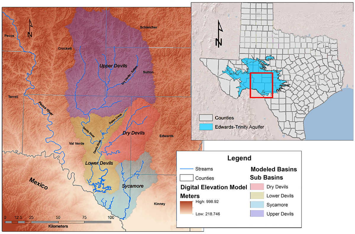Devils River Watershed Map