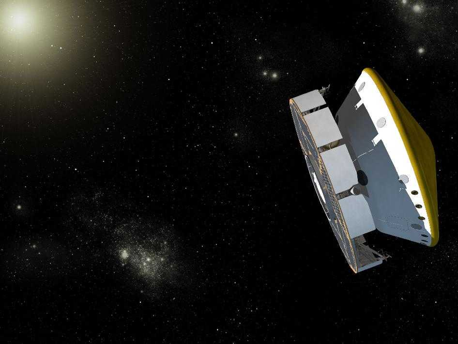 MSL spacecraft on its trip to Mars