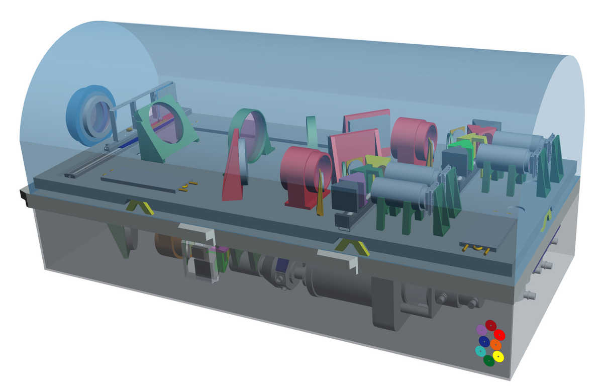 OCTOCAM, an astronomical workhorse housing eight detectors within the refrigerator-sized instrument