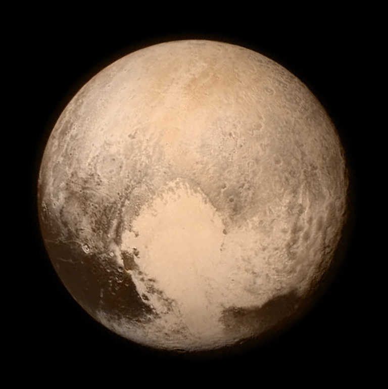 Image of Pluto from the Long Range Reconnaissance Imager (LORRI)