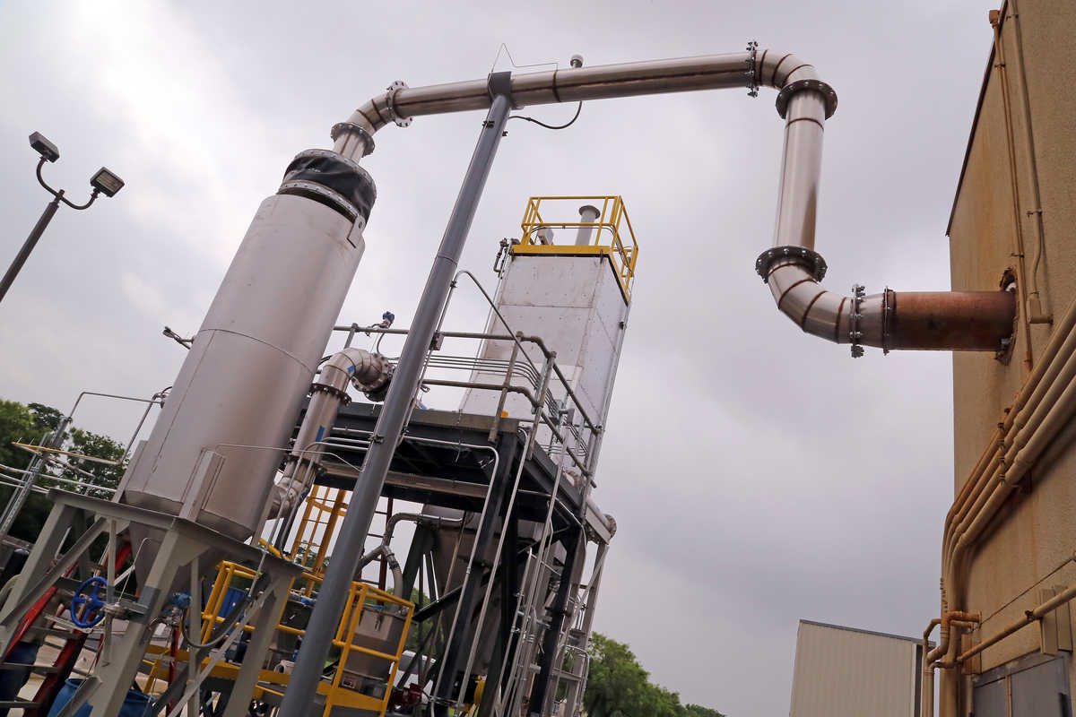 SwRI helped design and build a custom pollution abatement system