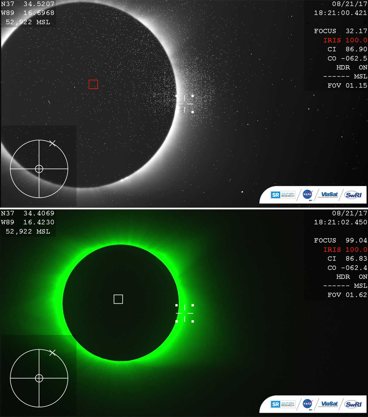 science data and images during the August 21 eclipse