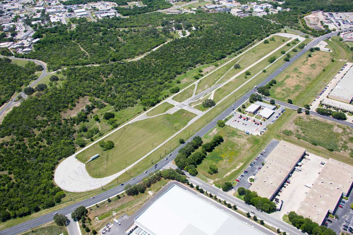 Image: aerial photo of 1.2-mile test track