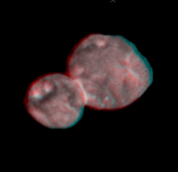 first stereo image pair of Ultima Thule