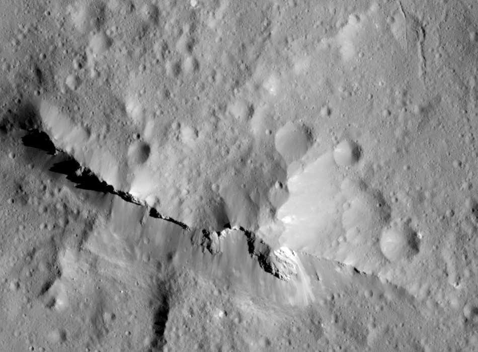 Urvara impact crater on Ceres