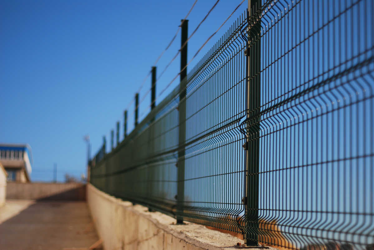 Security barrier fence ASTM F2781