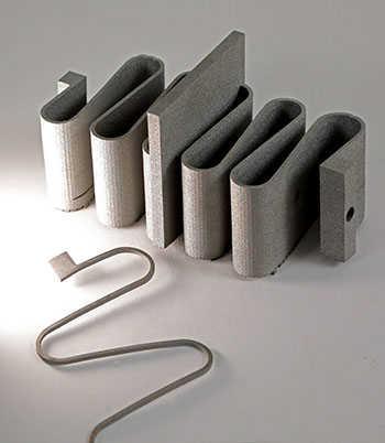 Grey springs made with nitinol 3D printing