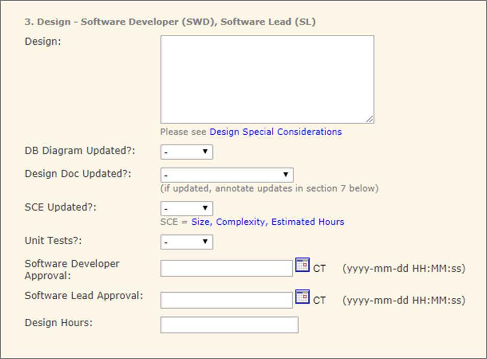 Software task design