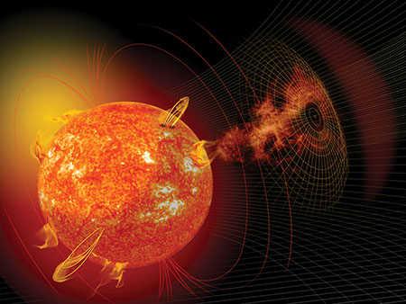 Solar flare graphic