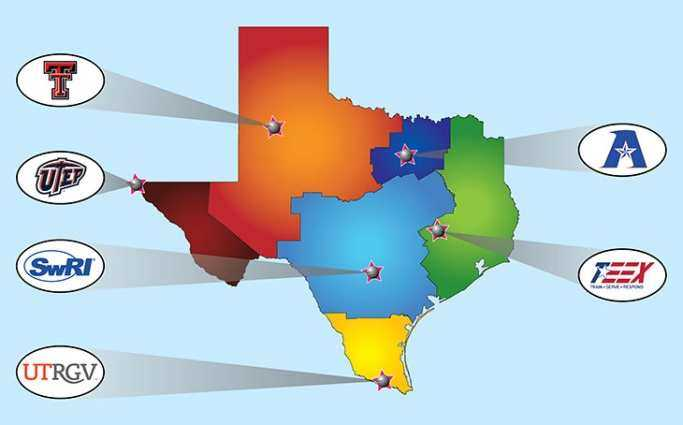 image of TMAC locations in Texas