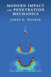 book cover: blue background with the words Modern Impact and Penetration Mechanics and author name, James D Walker, overlayed