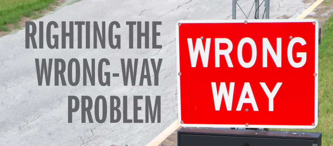 Righting the Wrong Way Driving Problem