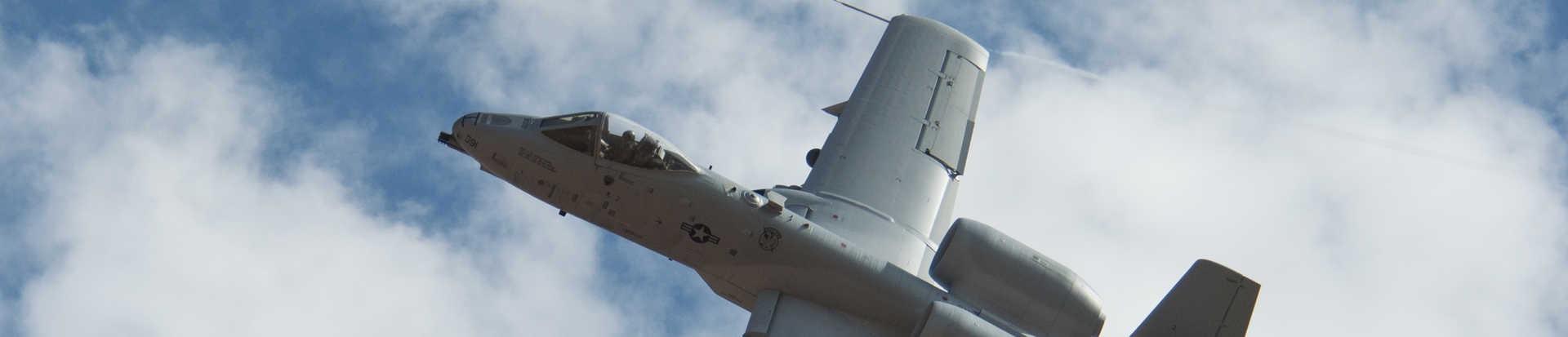 A-10 in flight.