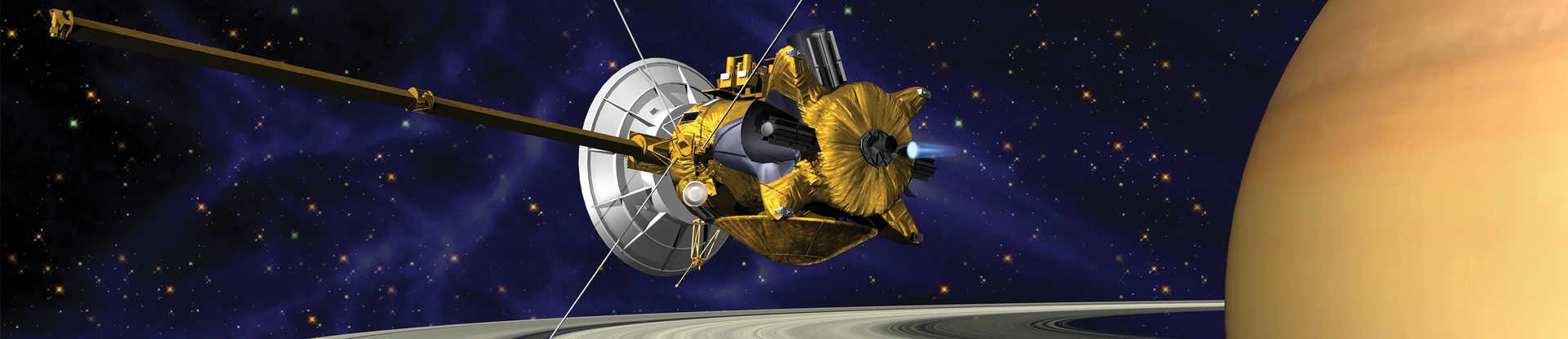 Artist concept of Cassini in orbit