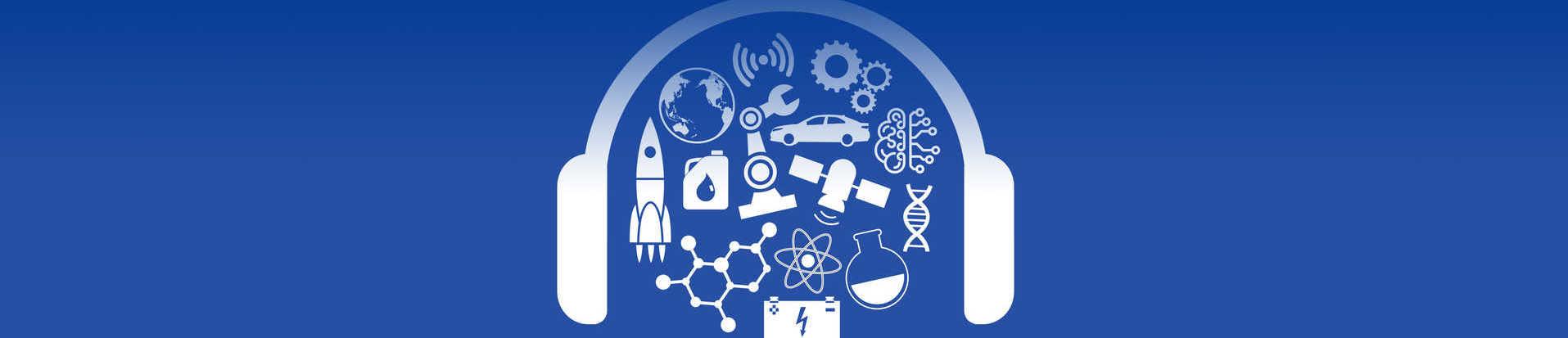 White Technology Today Podcast logo on a blue background