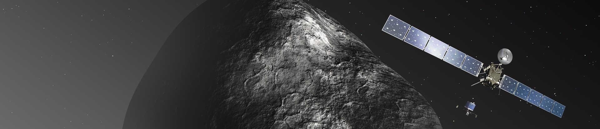 Artists rendering Rosetta Philae