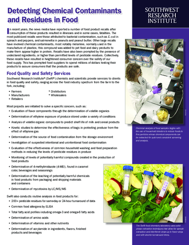 Go to detecting chemical contaminants flyer