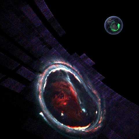 Image: Spectrograph image of Jupiter's massive auroras