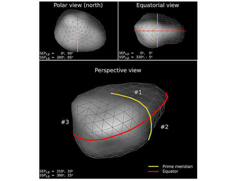 Asteroid Lutetia shape model