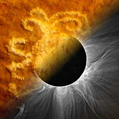 Composite image representing the Ancient and Modern Sun-Watching theme of the SwRI-led PUNCH outreach program